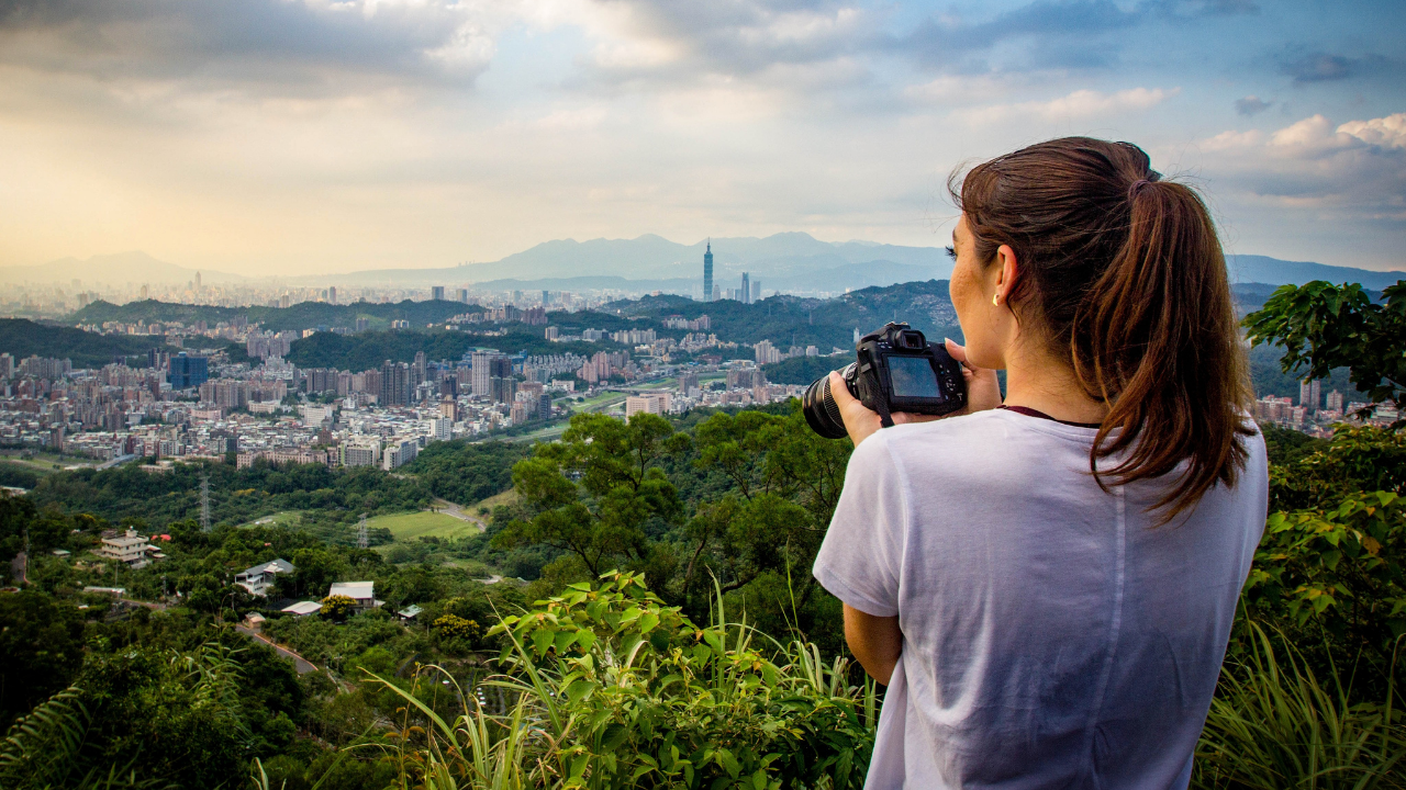 Lian's view of Taipei City from Maokong